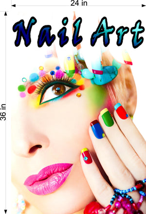 Nail Art 03 Photo-Realistic Paper Poster Premium Matte Interior Inside Sign Advertising Marketing Wall Window Non-Laminated Vertical