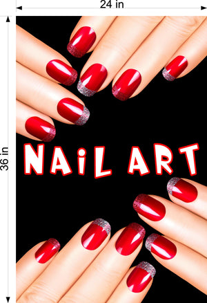Nail Art 07 Wallpaper Poster Decal with Adhesive Backing Wall Sticker Decor Indoors Interior Sign Vertical