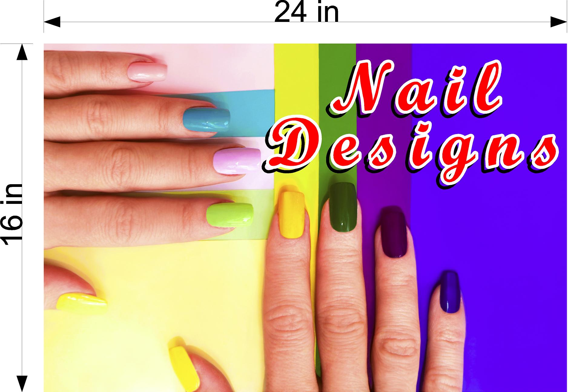 Nail Designs 06 Photo-Realistic Paper Poster Premium Matte Interior Inside Sign Adverting Marketing Wall Window Non-Laminated Horizontal
