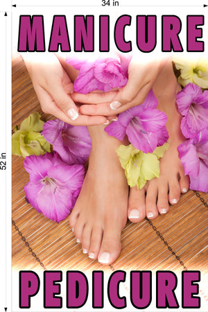 Pedicure & Manicure 06 Wallpaper Poster Decal with Adhesive Backing Wall Sticker Decor Indoors Interior Sign Vertical