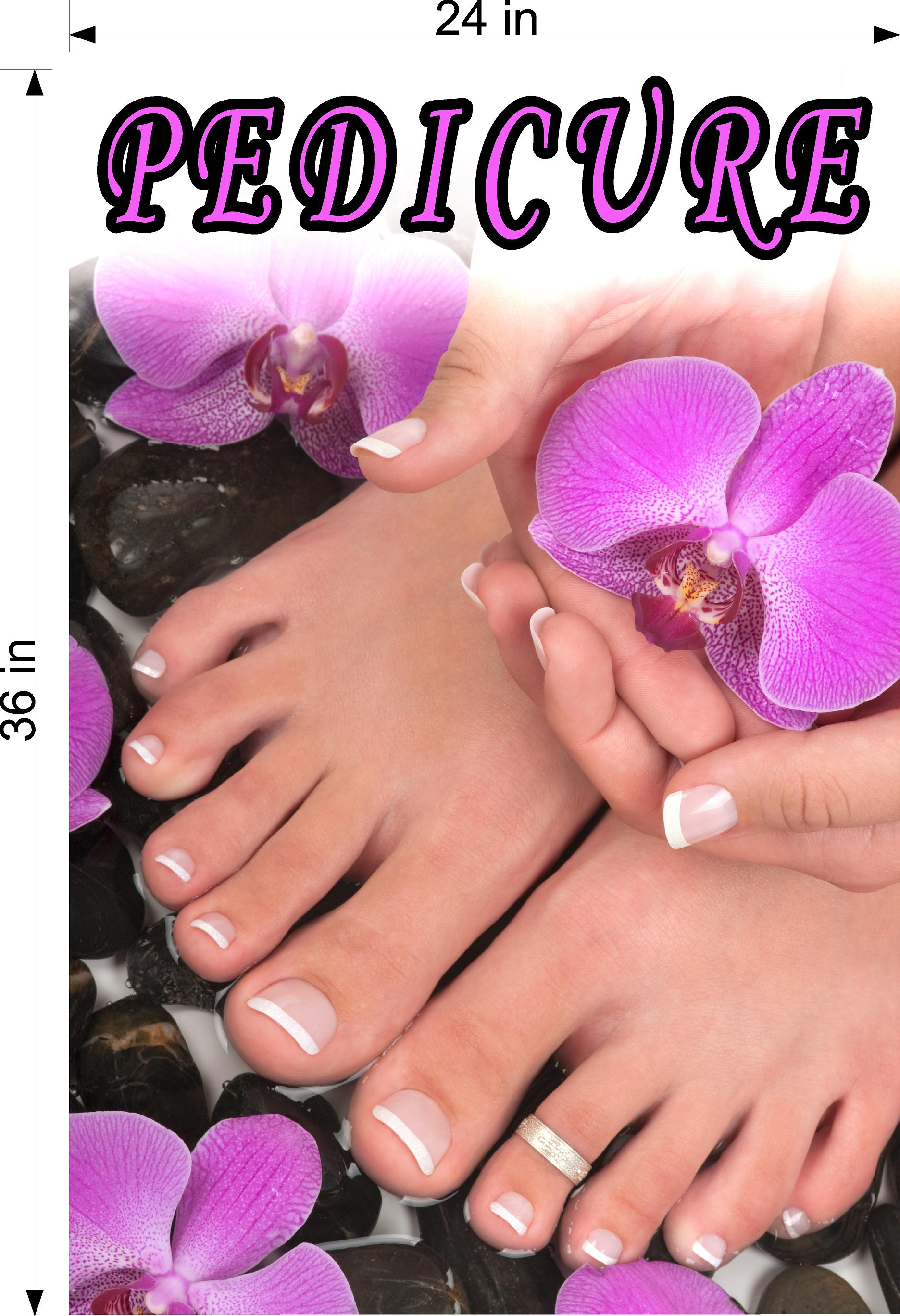 Pedicure 08 Wallpaper Poster Decal with Adhesive Backing Wall Sticker Decor Indoors Interior Sign Vertical