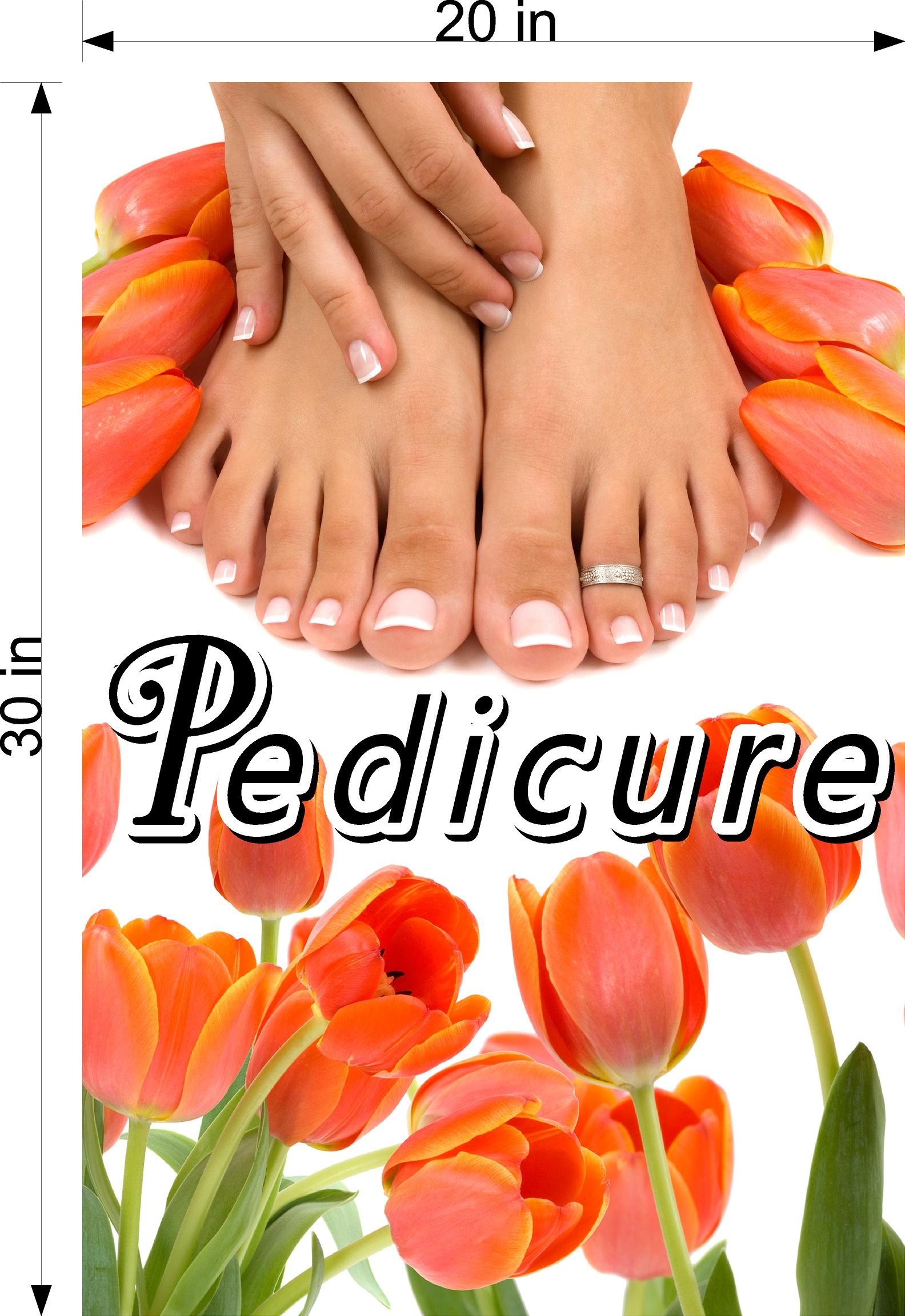 Pedicure 23 Photo-Realistic Paper Poster Premium Matte Interior Inside Sign Advertising Marketing Wall Window Non-Laminated Vertical