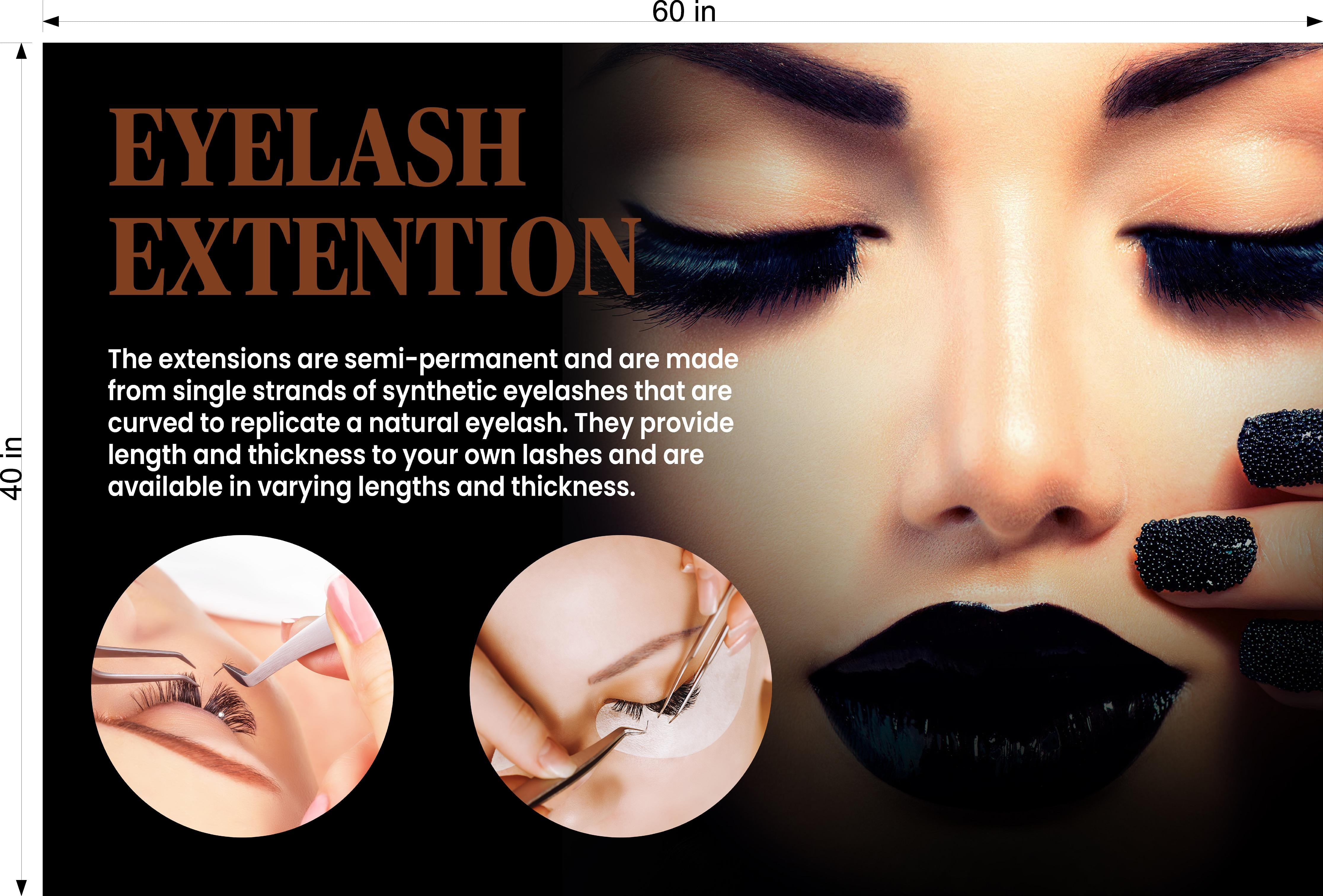 Permanent 29 Photo-Realistic Paper Poster Premium Matte Interior Inside Sign Wall Window Non-Laminated Makeup Eyebrows Lip Eyeliner Microblading Horizontal