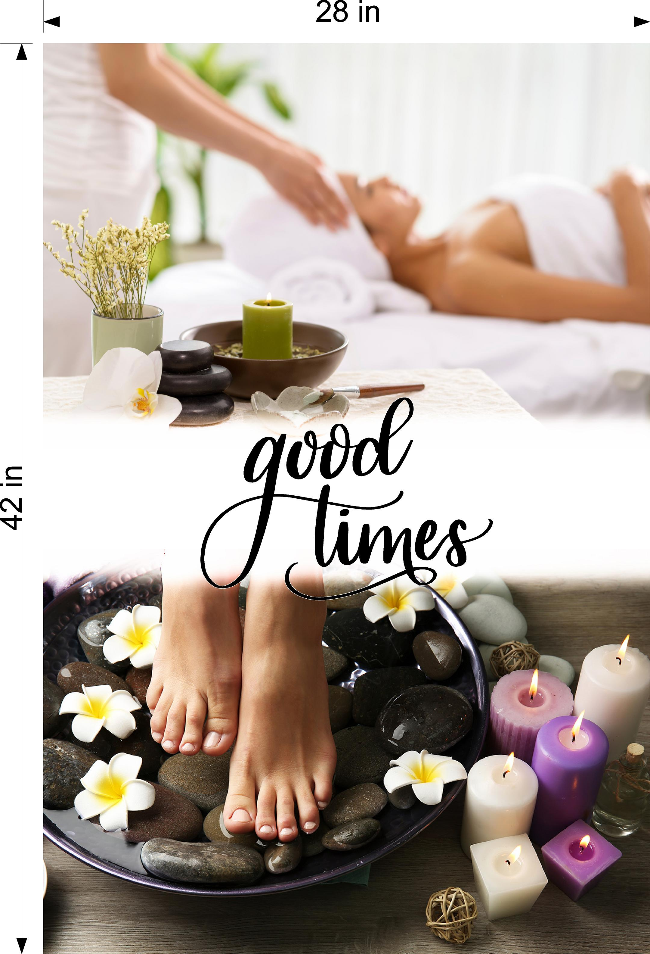 Quote 27 Wallpaper Fabric Poster Decal with Adhesive Backing Wall Sticker Decor Indoors Interior Sign Good Times Vertical