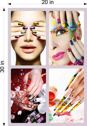 Salon 24 Photo-Realistic Paper Poster Premium Matte Interior Inside Sign Wall Window Non-Laminated Nail Manicure Vertical