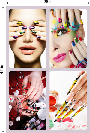 Salon 24 Perforated Mesh One Way Vision See-Through Window Vinyl Pedicure Nails Dip Powder Vertical