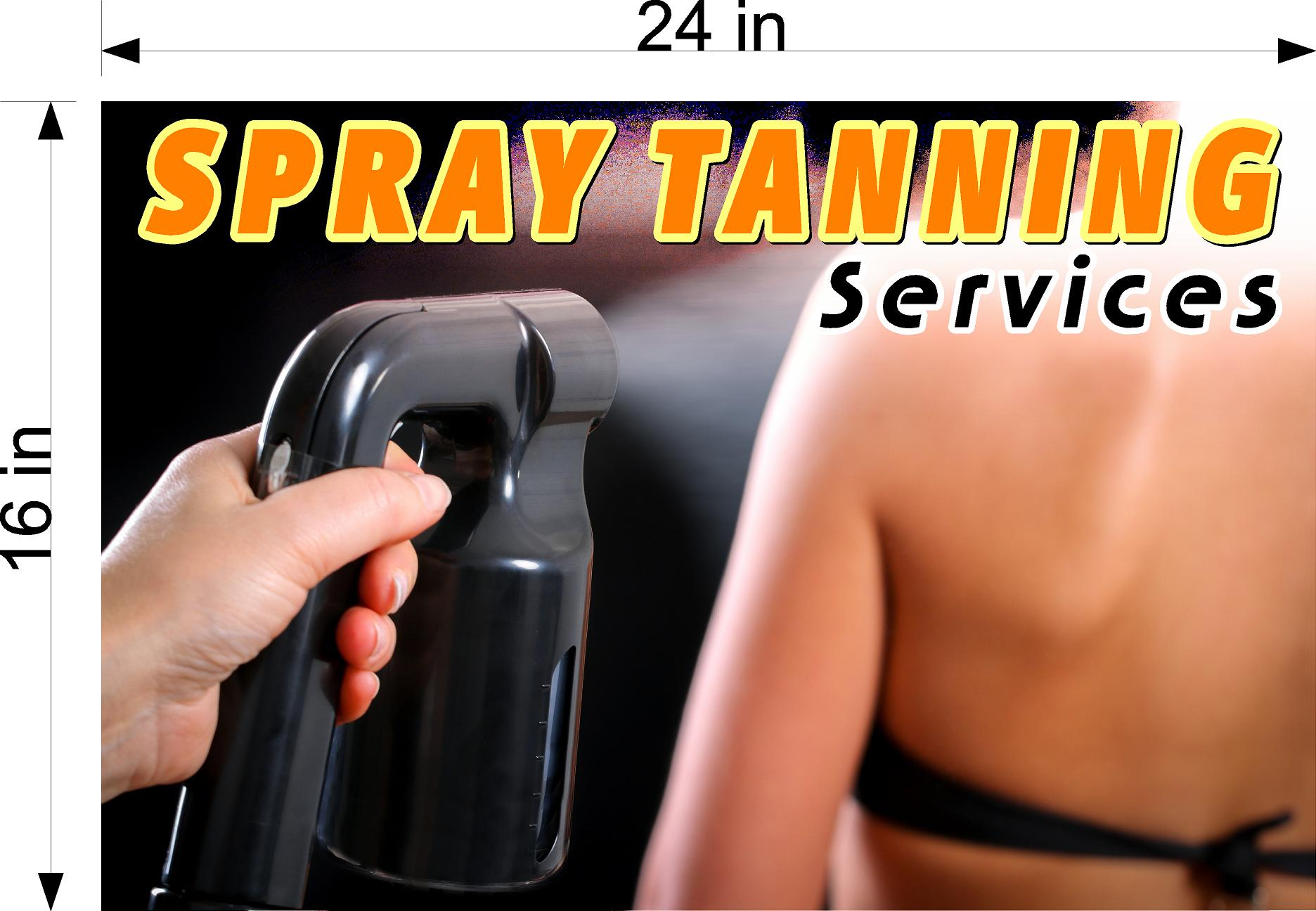 Tanning 08 Wallpaper Poster Decal with Adhesive Backing Wall Sticker Decor Interior Sign Spray Service Solarium Horizontal