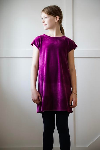 Tea - Cosmic Berry Velour Shift Dress (Size 8-16)