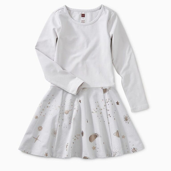 Tea - Vapor Starry Skies Skirted Dress Sizes 6-7