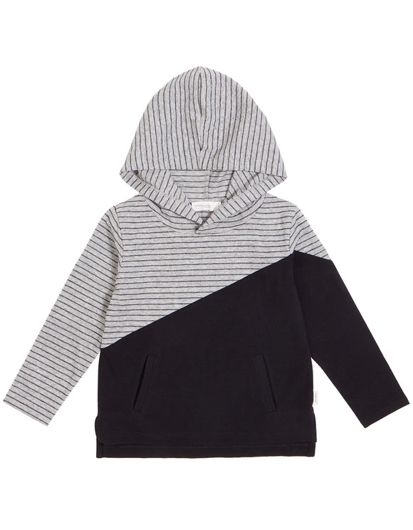 Miles Baby - THE Striped Hoodie Size 6m-7