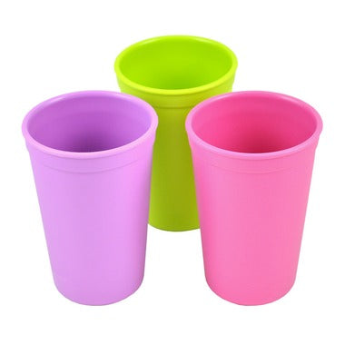 Replay Drinking Cups - Purple, Lime Green, Pink