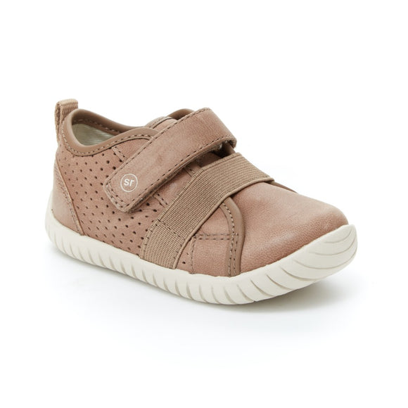 Stride Rite - Tan/Grey Leather Riley's 4.5-5.5