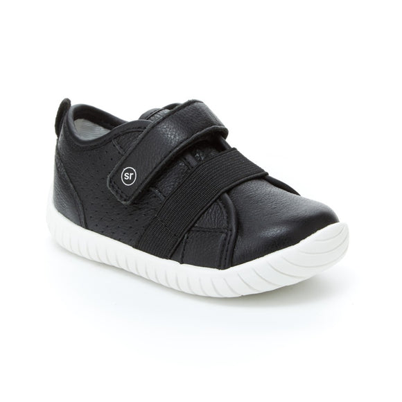 Stride Rite - Black Leather Riley's 4-5.5