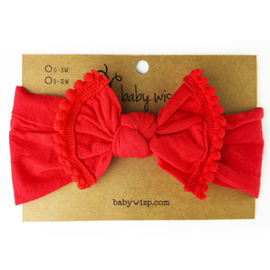 Red Pom Pom Headband