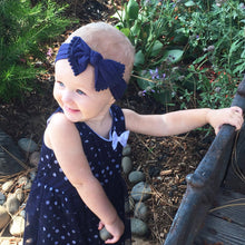 Load image into Gallery viewer, Navy Pom Pom Headband