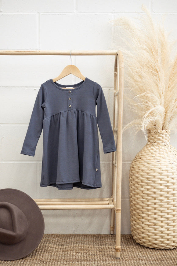 Jax & Lennon - Blue Peplum Dress 6m-6y