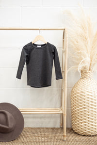 Jax & Lennon - Fitted LS Charcoal 12-24m