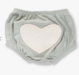 Sapling - Grey Heart Bloomers 0-6m