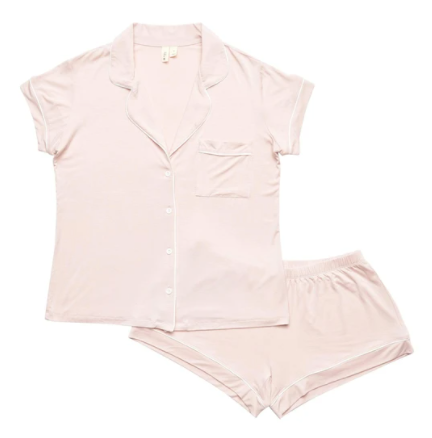 Kyte - Blush Women's PJ Short Set L