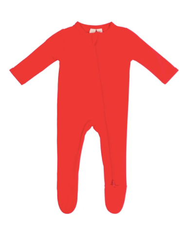 Kyte Bamboo Zip Sleeper - Crimson 0-18m