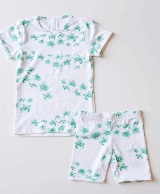 Bambi & Birdie - Turtles Toddler Short Sets 6