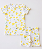 Bambi & Birdie - Lemons Toddler Short Sets 18m-8