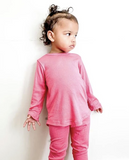 Tiny Button - Kids Lounge Set Hot Pink 6m-6T
