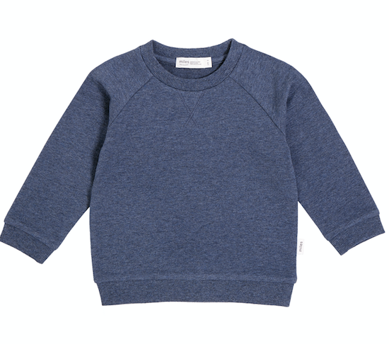 Miles Baby - Denim Blue Pullover Size 2-7