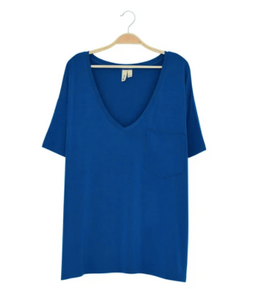 Kyte - Ladies Relaxed Fit VNeck Sapphire XS-L