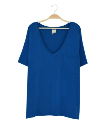 Kyte - Ladies Relaxed Fit VNeck Sapphire XS