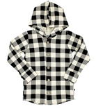 Little & Lively - Plaid Hooded Button Up 6m-4T