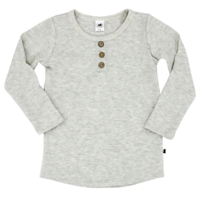 Little & Lively - Ladies Ash Henley S