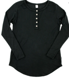 Little & Lively - Ladies Black Henley S