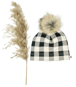 Little & Lively - Plaid Pom Beanie