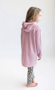 Tiny Button - Lilas Pink Hoodie
