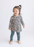Tiny Button - Leopard Twirl Top