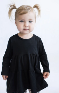 Tiny Button - Black Twirl Top COMING SOON