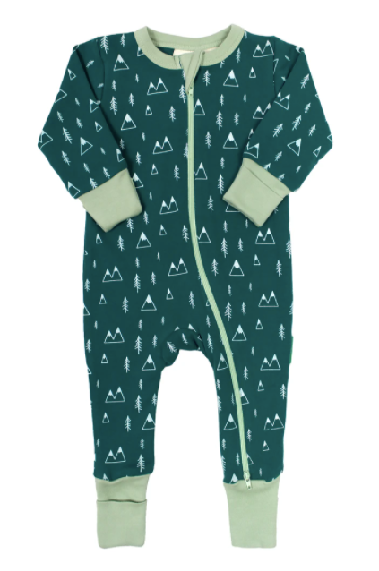 Parade - Mountains LS Romper 0-12m