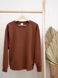 Jax & Lennon - Ladies Rust Crew Neck Sweater