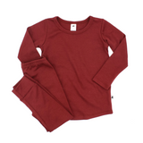 Little & Lively - Bamboo/Cotton PULLOVER Cranberry 0-2T