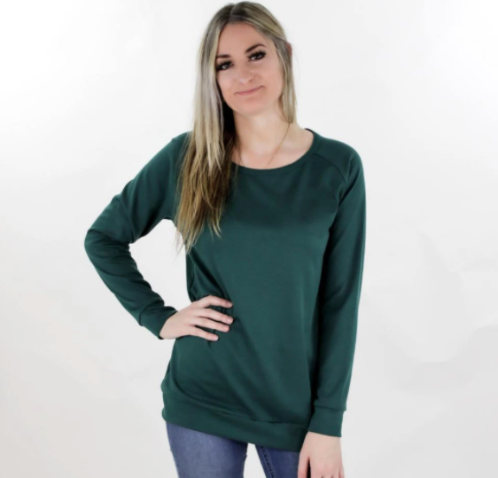 Little & Lively - Ladies Bamboo Pullover Juniper S