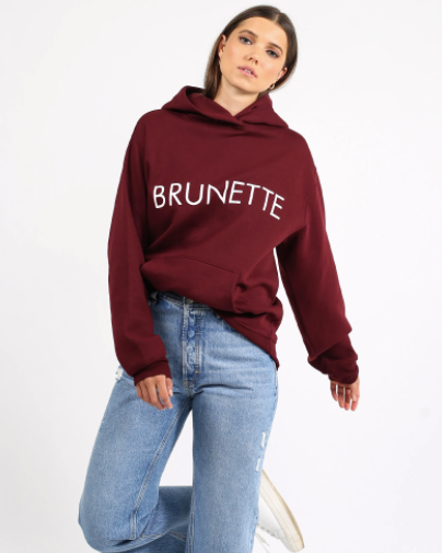 Brunette the Label - Brunette Classic Burgundy Hoodie