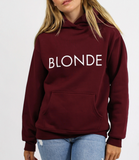 Brunette the Label - Blonde Classic Burgundy Hoodie