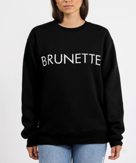 Brunette the Label - Black Brunette Crew Neck