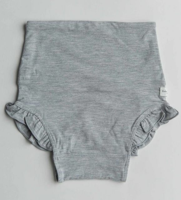 Loulou Lollipop - Heather Grey Ruffle Bloomers