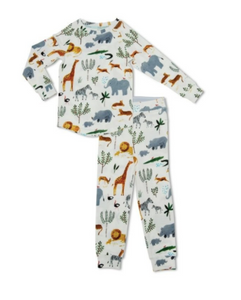 Loulou Lollipop - 2pc Safari TENCEL Pajamas 2-4T