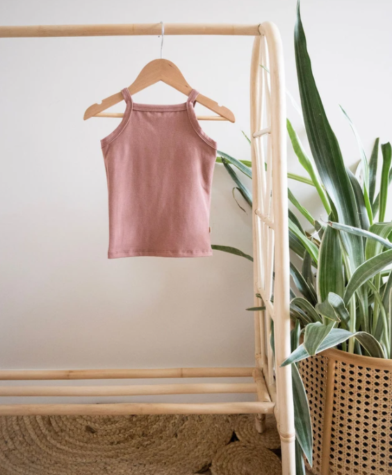 Jax & Lennon - Rose Clay Fitted Tank