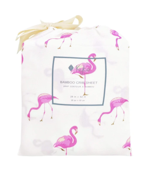 Kyte Bamboo Sheet- Flamingo