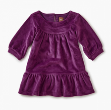 Load image into Gallery viewer, Tea - Cosmic Berry Velour Ruffle Dress Sizes (6-9m) - 5