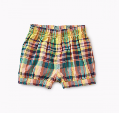 Tea - Madras Bubble Shorts 9m-4T